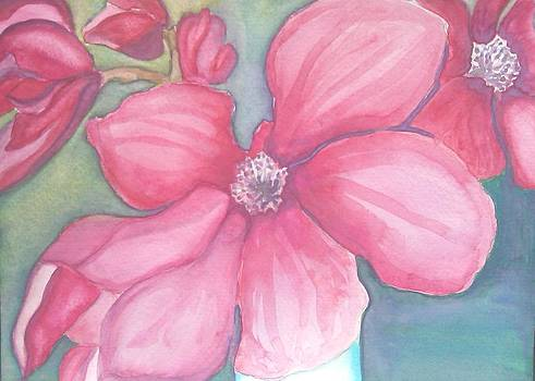 Red Magnolias  by Sheba Goldstein