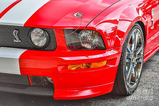 Red Mustang Cobra by Mina Isaac