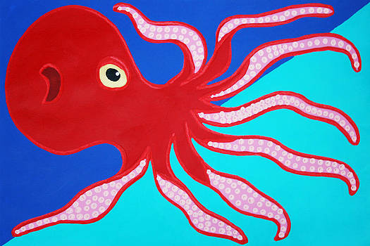 Red Octopus by Matthew Brzostoski