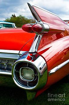 Red old car detail by Miro Vrlik