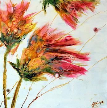 Red Orange Flowers by Jennifer  Creech
