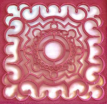 Red ornamental design. by Slavica Koceva