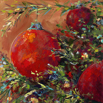 Red Ornaments by Karen Ahuja