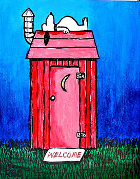 Red Outhouse by Bob Crawford