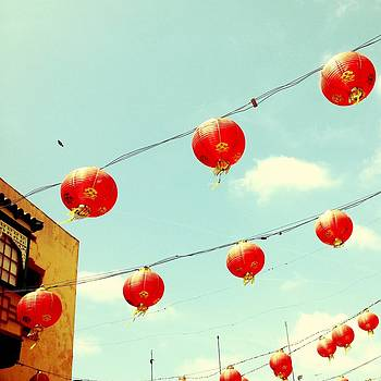 Red Paper Lanterns in Chinatown by Loud Waterfall Photography Chelsea Sullens
