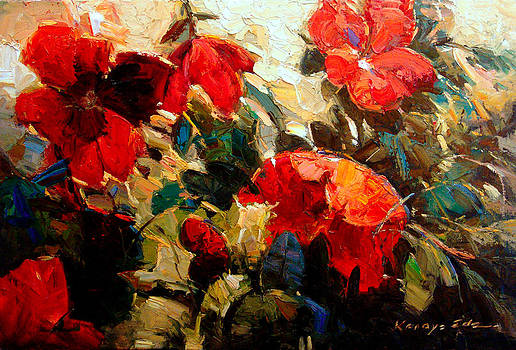 Kanayo Ede - Red Peggy. Contemporary floral