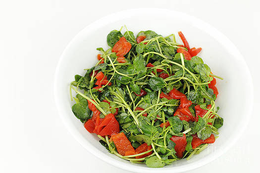 Red Peppers and Watercress by Lee Serenethos