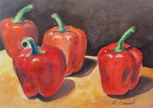 Red Peppers by Melinda Saminski