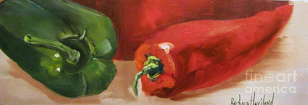 Red Peppers Still Life by Barbara Haviland
