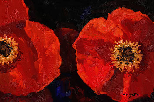 Kanayo Ede - Red Petals - Large Red Poppies