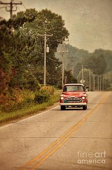 Jill Battaglia - Red Pick up Truck