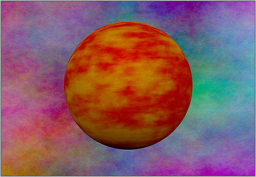 Red Planet Orange Clouds by Ricardo  De Almeida