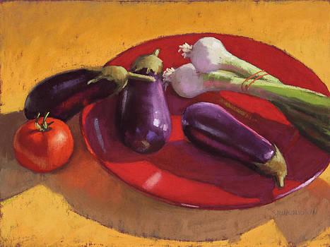 Red Plate by Sarah Blumenschein