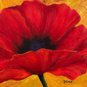 Red Poppi I by Trish Bilich