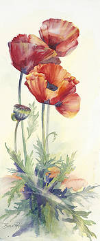 Red Poppies by Bonnie Ross