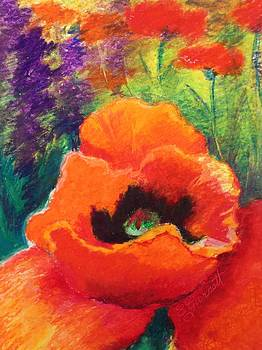 Red Poppies  by Edna Garrett