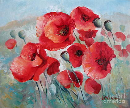 Red poppies by Elena Oleniuc