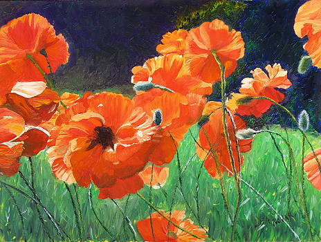 Lea Novak - Red Poppies for Leah