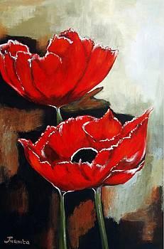 Red Poppies by Juanita Mulder