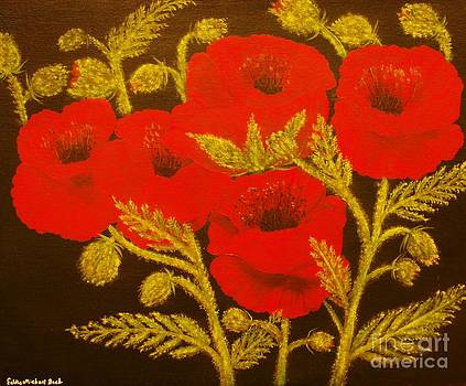Red Poppy-ORIGINAL SOLD-Buy Giclee Print Nr 31 of Limited Edition of 40 prints  by Eddie Michael Beck