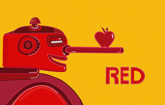 Red Robot by Lynnda Rakos