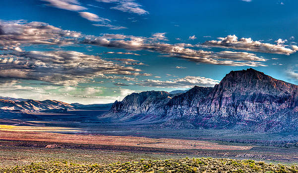 Red Rock Canyon Valley by David Thurau