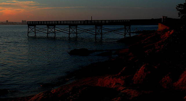 Red Rocks and Pier by Stephen Melcher