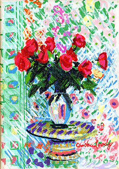 Candace Lovely - Red roses in Water