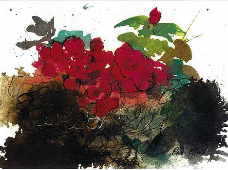 Red Roses on the Rocks by Elaine Elliott