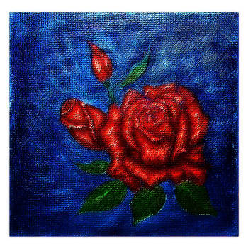 Red Roses v1 by Mary Sylvia Hines