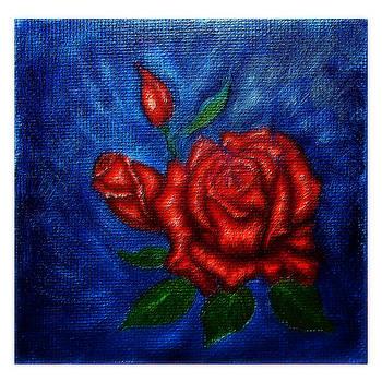 Red Roses v1 by Mary Sylvia Hines
