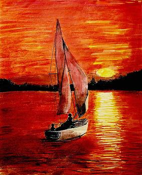 Red Sail Sunset by Todd Spaur