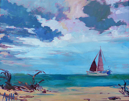 Red Sails by Azhir Fine Art