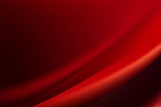 Red silk background with some soft folds by Larisa Karpova