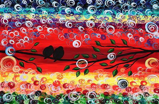 Red skies by Mariana Stauffer