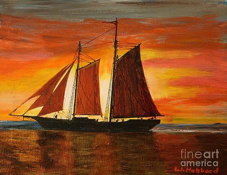 Bill Hubbard - RED SKY AT NIGHT