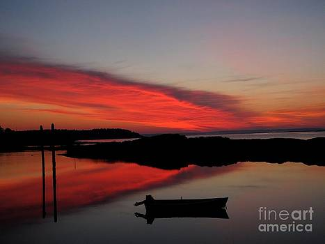 Red Sky In Morning by Donnie Freeman