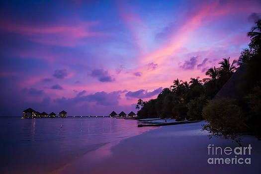 Red Sky Over Paradise by Hannes Cmarits