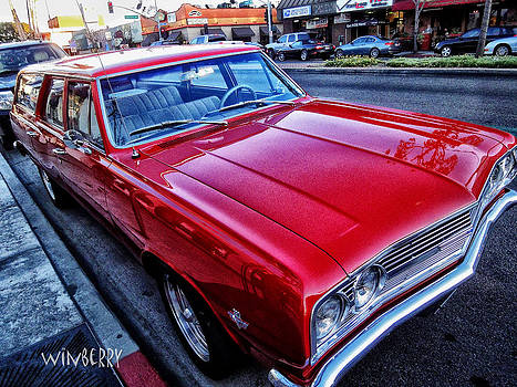 Red Station Wagon by Bob Winberry