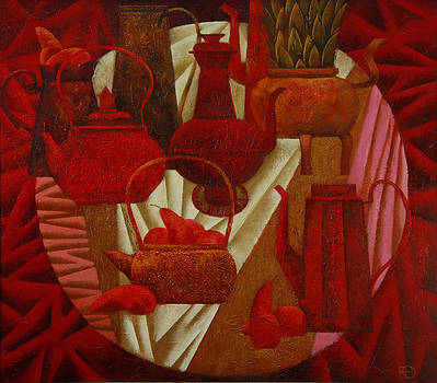 Red Still Life by Nadia Egorova