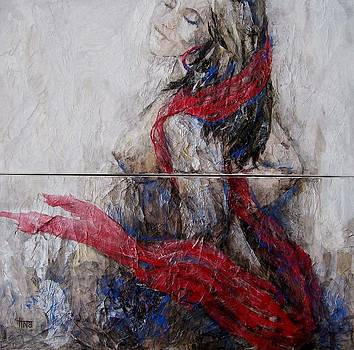 Red Stirs My Soul diptych by Tina Siddiqui