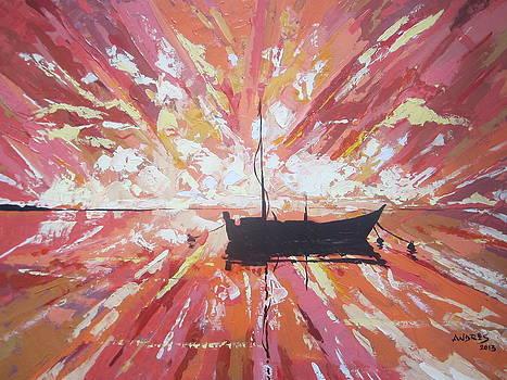 Red Sunrise by Andrei Attila Mezei