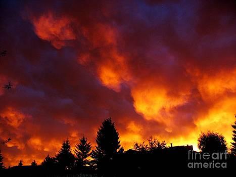 Red Sunset by Galina Khlupina