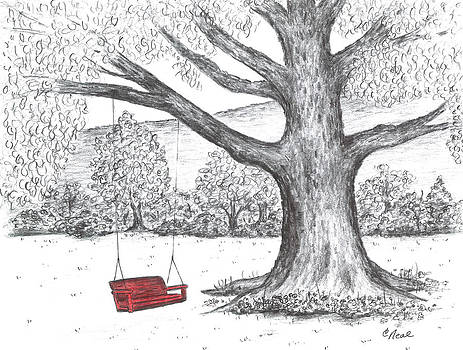 Red Swing by Carol Neal