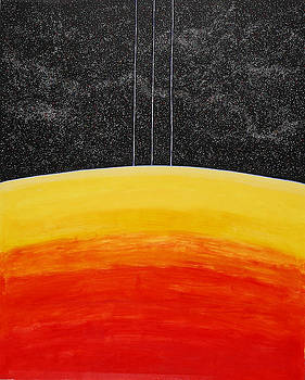 Red to Yellow Spacescape by Jesse Jackson Brown