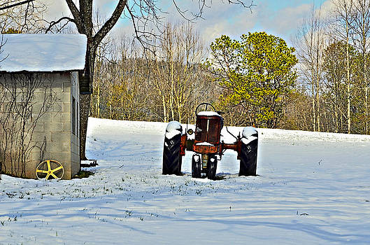 Red Tractor by Susan Leggett