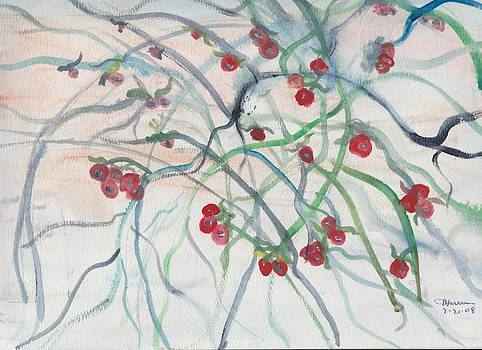 Red Tree Berries by Thelma Harcum