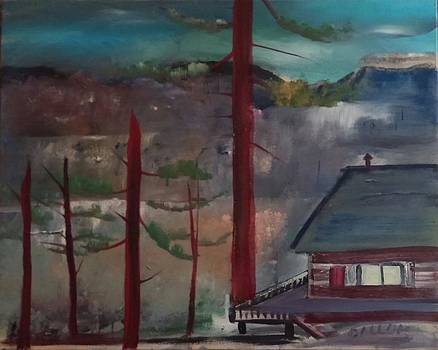 Red Tree Cabin by Gregory Dallum