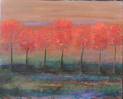 Red Trees by Dana Spring Parish