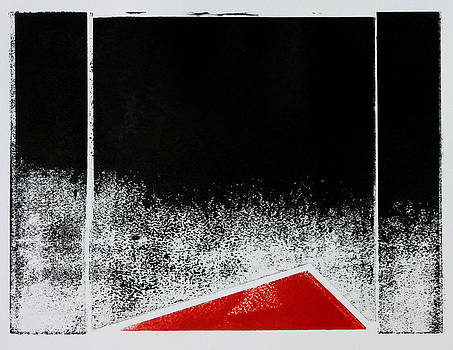 Red Triangle Mono Print by Scott Shaver